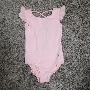 Girls Justice Pink Gymnastics Leotard Size 8